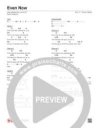 G2 Guitar Chord Chart Even Now Chord Chart Editable Brent Anderson Praisecharts
