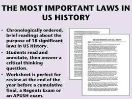 ush Most Important Tpt History Review - In apush The Us Laws