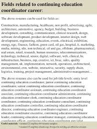 ... 16. Fields related to continuing education coordinator ...
