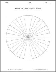 Blank Pie Chart With 24 Pieces Free To Print Pdf File
