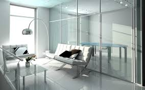 ... Stylish Interior Office With Glass Walls ...