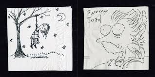 the napkin art of tim burton the napkin art of tim burton