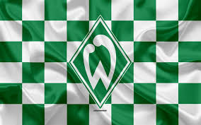 From wikimedia commons, the free media repository. Download Wallpapers Sv Werder Bremen 4k Logo Creative Art Green White Checkered Flag German Football Club Bundesliga Emblem Silk Texture Bremen Germany Football Werder Bremen For Desktop Free Pictures For Desktop Free
