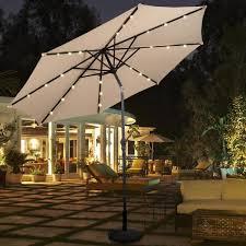 10 ft patio solar umbrella with crank