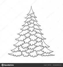クリスマス ツリー輪郭の描画大人の塗り絵のページを着色の良い