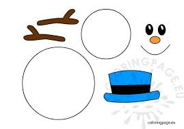 Snowman Template Printable Snowman Template Printable Coloring Page