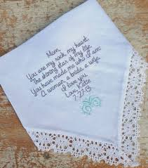 handkerchief wedding. mom from bride wedding heirloom handkerchief custom embroidered personalized hankie gift embroidery parents on etsy, e