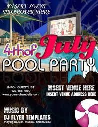 4th Of July Pool Party Flyer Word Excel Templates