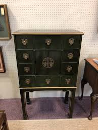 apothecary style furniture. Mid Century Chinoiserie Apothecary Style Enameled Chest / Cabinet On Tall Legs, Green With Gilt Accents, Brass Hardware Furniture