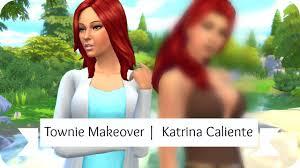 Sims 4 Townie Makeover   Katrina Caliente - YouTube