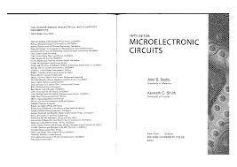 Electronic Circuit Analysis And Design 2nd Edition Pdf Microelectronic Circuits By Sedra Smith 5th Ed Readable