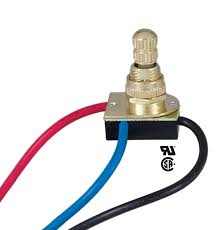 two circuit rotary switch 40402i b u0026p lamp supplytwo circuit rotary switch with brass tone knob and 6 18 ga wire leads rated 3a 125 t u l csa