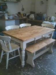 Farmhouse table with bench and chairs 5 Table With Bench And Chairs - Ideas on Foter