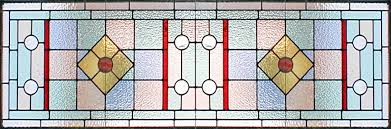 art deco style stained and leaded glass window
