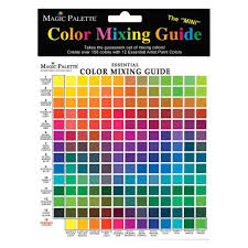 Paint Color Mixing Chart Magic Palette Colour Mixing Guide Mini