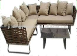 china outdoor indoor l shaped outdoor couch rattan sofa garden furniture supplier