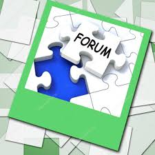 Network Design Online Forum Forum Photo Means Online Networks And Chat Stock Photo