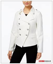 washable materials 2018 washed white coats kp88 inc international concepts military jacket women s clothing