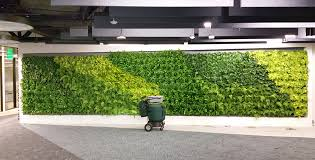 green wall vertical plant trays