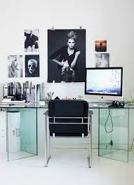 post glass home office desks. Glass Desk, Posters On The Wall. ♥ Minimalist/transparent Office Design Idea For Decor And Work Lovers. Post Home Desks S