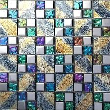 decoration iridescent mosaic tile plated crystal glass kitchen designs bathroom wall tiles ideas