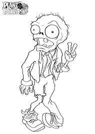 Plants Vs Zombies Coloring Page Free Printable Pages For Coloring