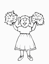Free Printable Cheerleading Coloring Pages For Kids For Cheerleader