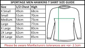 Small T Shirt Size Chart Sportage Men Fashion Long Sleeve T Shirt