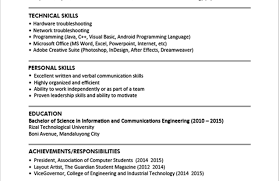Resume Resume Example Sample Resume Format For Fresh Graduates