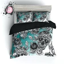bedroom skull bedding sets smart phones within comforter set queen inspirations 17 red and black plaid