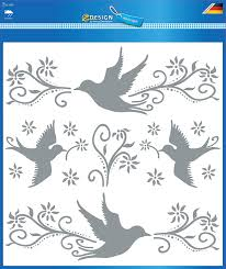 Avery Zweckform 59387 Aufkleber Warnvögel Fensterschutz Gegen