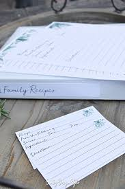 Recipe Paper Template Recipe Template For Binder And Cards Country Design Style