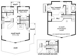 French Farmhouse House PlansA frame Cabin Floor Plans With Loft