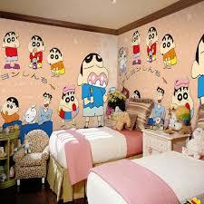 bedroom  colorful kids room design with prairie mural wallpaper