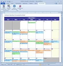 Excel Calendar Template 2013 Microsoft Office 2013 Calendar Template Convert Outlook Calendar To