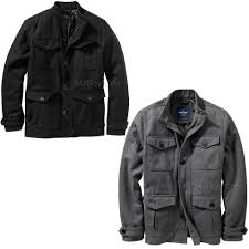 new old navy men stylish wool blend 4 pocket jacket warm black gray winter coat