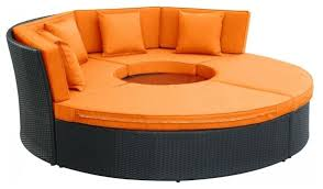 modway eei 956 exp moc set pursuit circular outdoor patio daybed set outdoor sofas by xomart