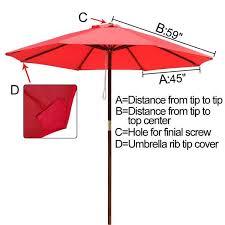 market umbrella replacement canopy
