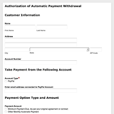 automatic withdrawal form template online payment form templates secure payment forms formstack