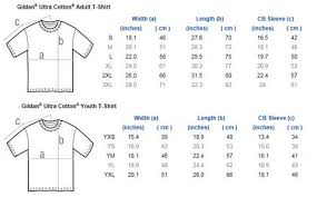 Gildan 2000 Size Chart Size Charts Explodingtntstore