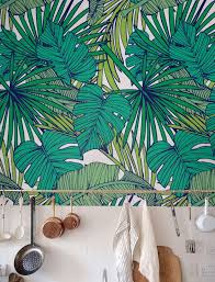 palm monstera leaf wallpaper removable wallpaper self adhesive wallpaper tropical wall dcor jungle wallcovering jw010 bathroomdrop dead gorgeous tropical