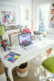 home office colorful girl. Colorful Office Space With White Desks Home Girl