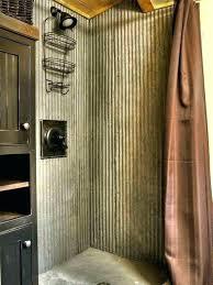 corrugated metal bathroom bathroom corrugated metal wainscoting bathroom