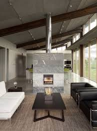 12x24 slabs of stacked marble tiles are a favorite geometric design of  architects and designers and when you look at this fireplace room divider  it is ...