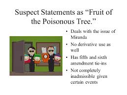 Bill Of Rights Lecture 2Fruit Of Poisonous Tree Doctrine Definition