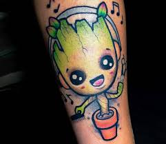 Little Baby Groot Tattoo By Paul Johnson Photo 25221