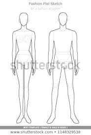 Body Template For Fashion Design