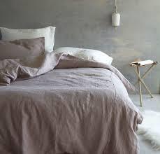 ... Pink or Dusk Rough Linen Bed Set | Bed-in-a-bag ...