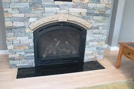 absolute black granite fireplace hearth traditional living room