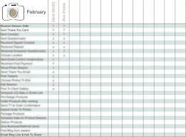 Client Organization Sheet Photography Marketing